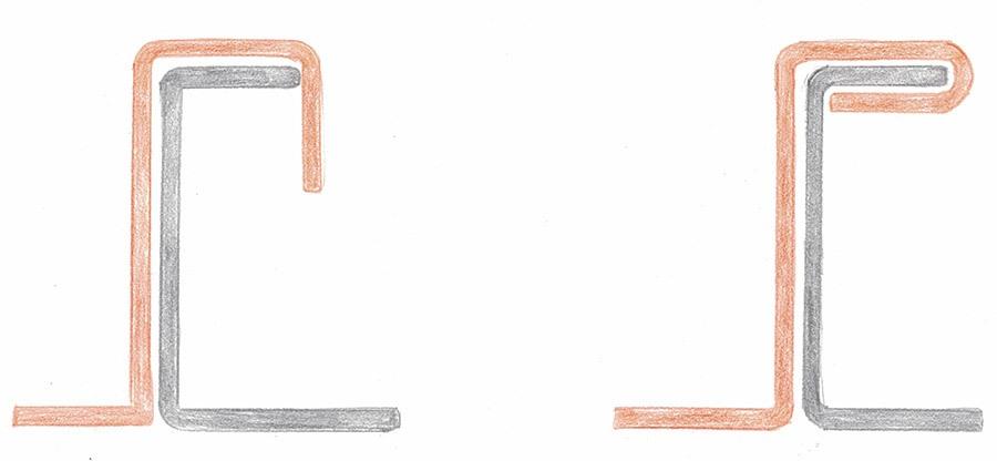 Mechanical standing seam single lock profile