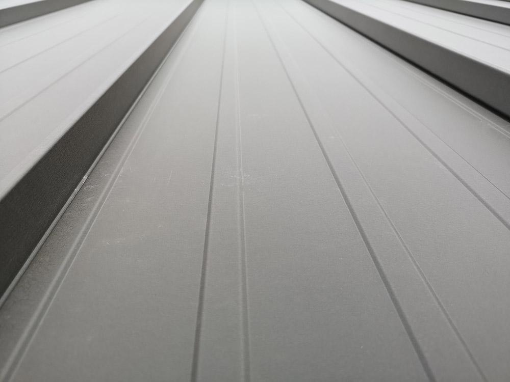 Aluminum standing seam