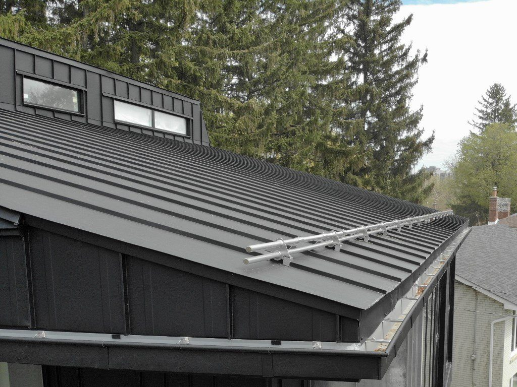 Ideal Roofing Snow Guard Metal Roof Experts In Ontario
