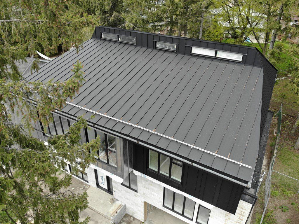 Standing Seam profiles in Swedish SSAB RR 33 metal