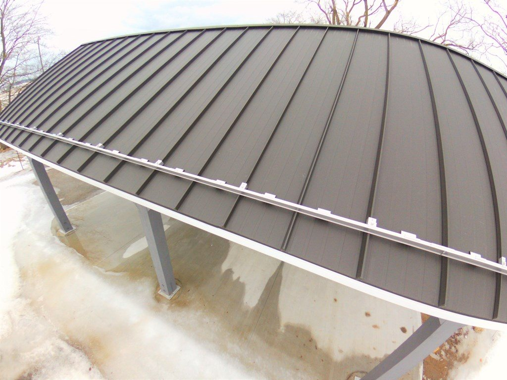 Aluminum snowguards on Standing seam roof
