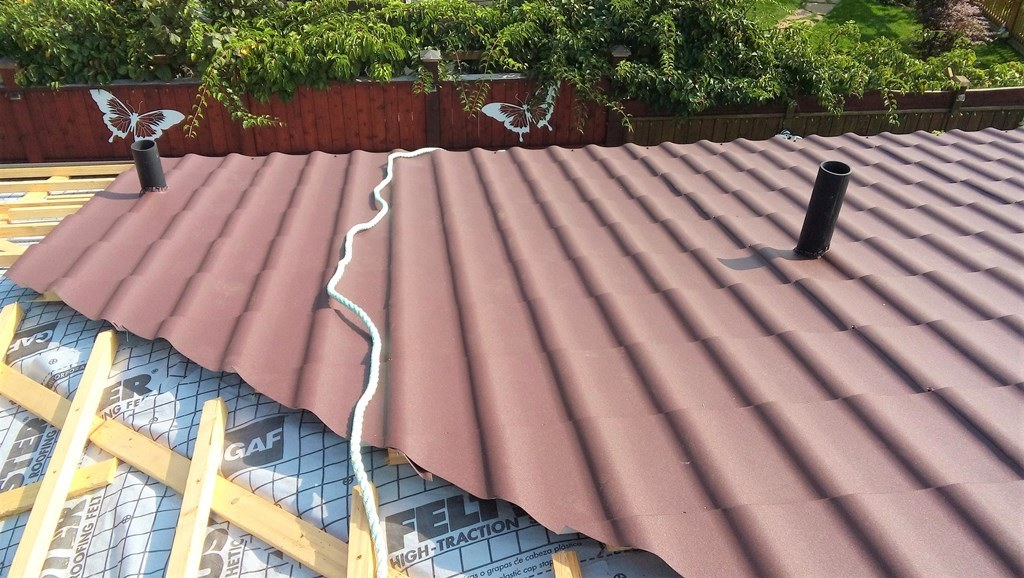 Metal spanish tile roof