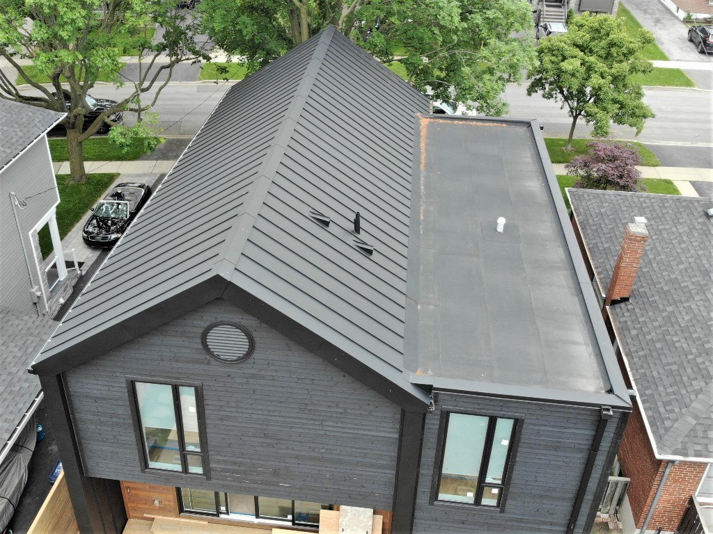 Traditional standing seam metal roof