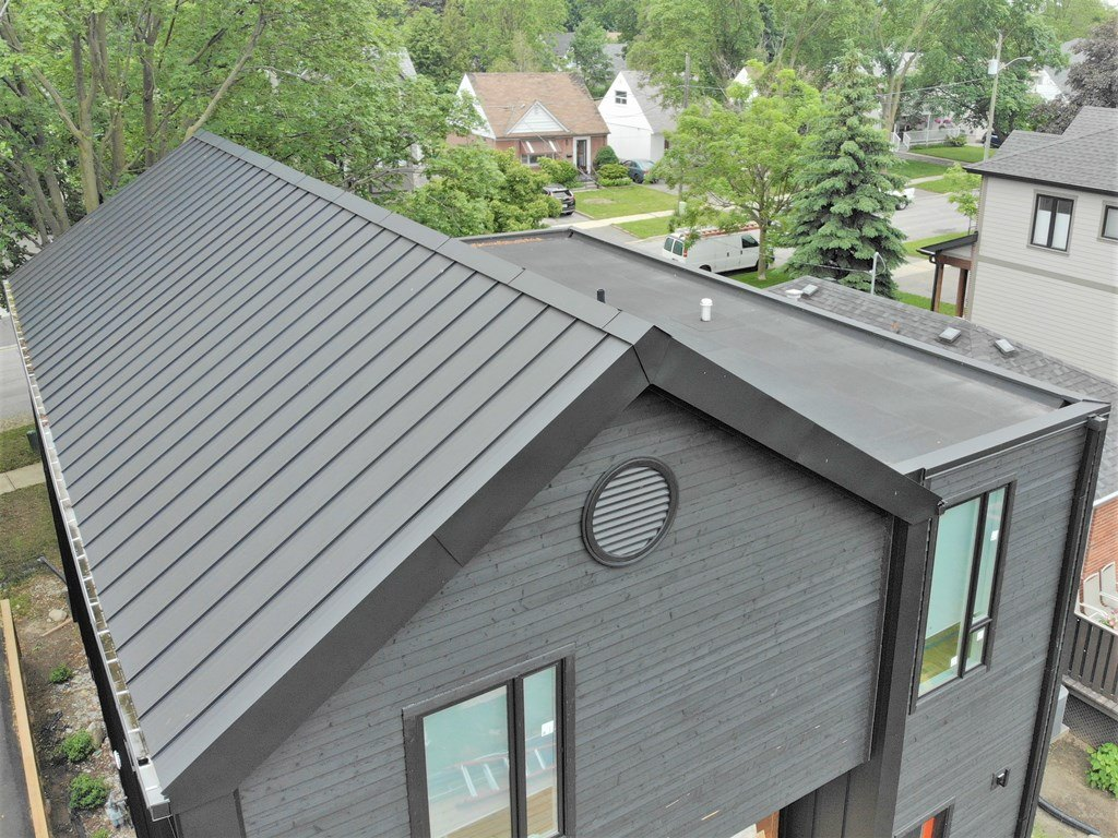 Standing seam metal roof hail damage