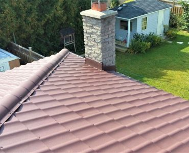 Metal tile roof project. Dufferin Street and Major MacKenzie Dr.
