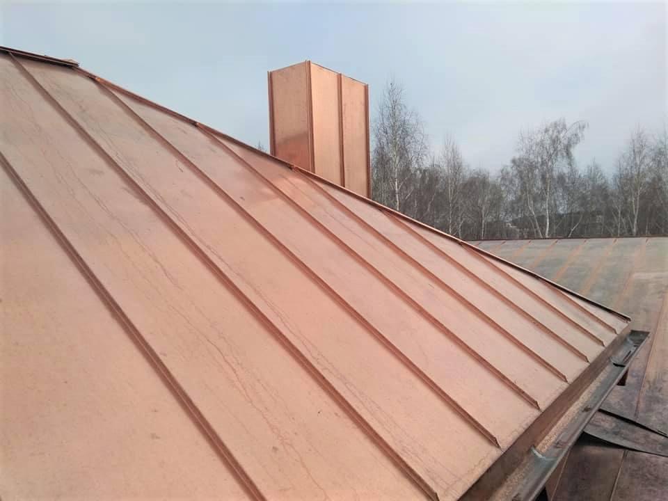 Copper Standing Seam Metal Roof