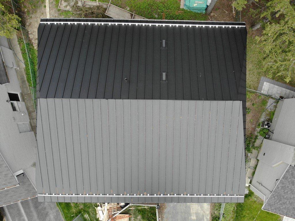 Standing seam metal roof hail damage