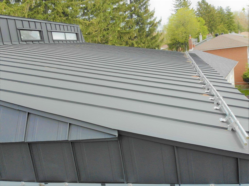 Standing Seam Metal Roof with low slope