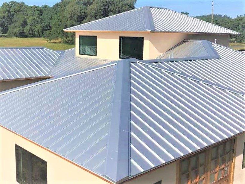 Galvalume standing seam metal roof