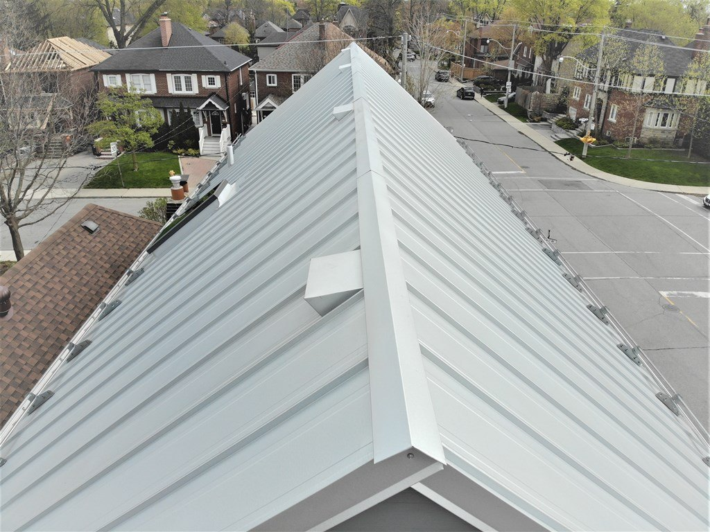Galvalume standing seam profile metal roof