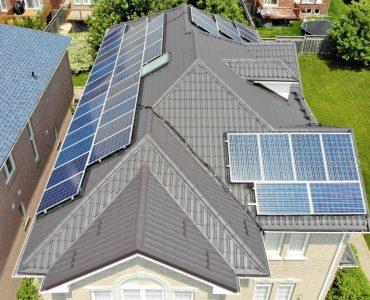 Metal tile roof project. Leslie Street and Elgin Mills Rd.