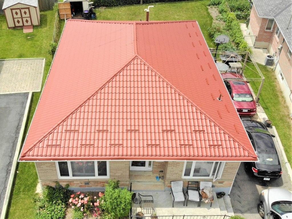 Metal roof project in Scarborough completed!