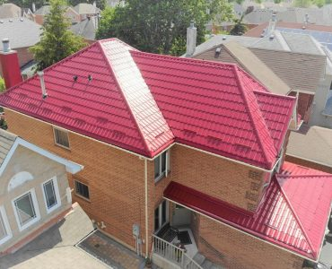 Metal tile roof project. Highway 7 and Woodbine Ave.