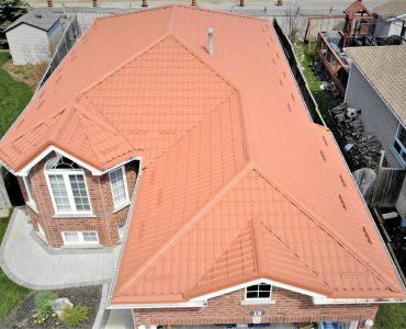 Metal tile roof project. Bayview Ave. and Steeles Ave.