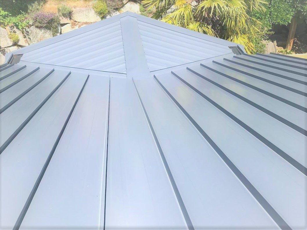 Galvanized standing seam metal roof