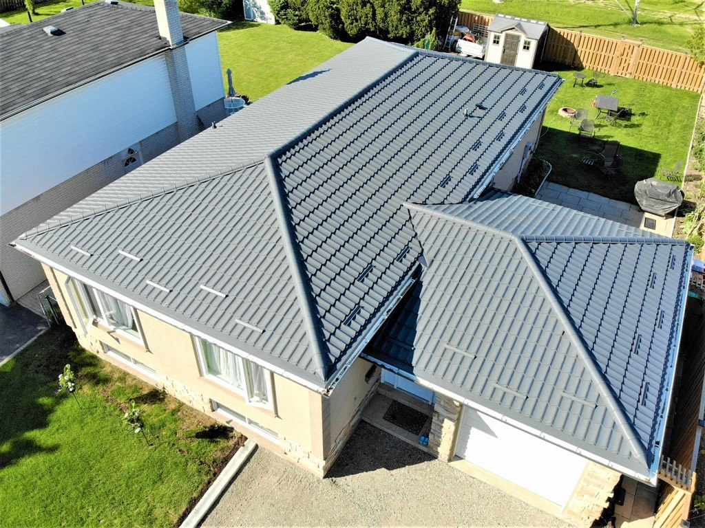 Metal tile roof system