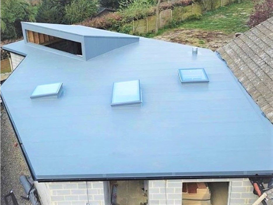 PVC membrane on residential house