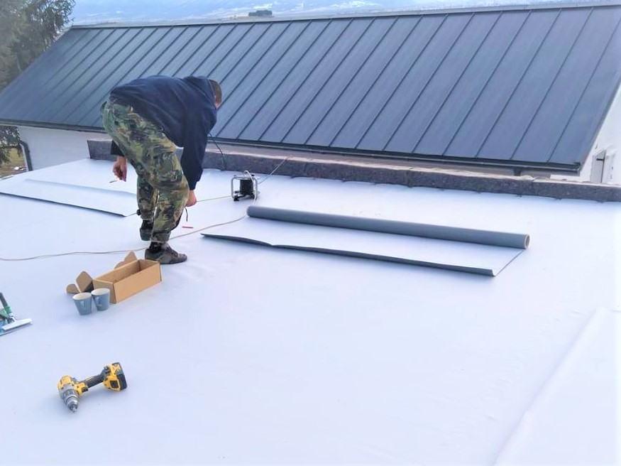 PVC membrane installation
