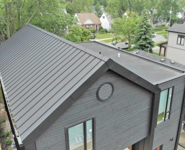 Standing seam roof project. Evans Ave. and Brown's Line, Etobicoke.