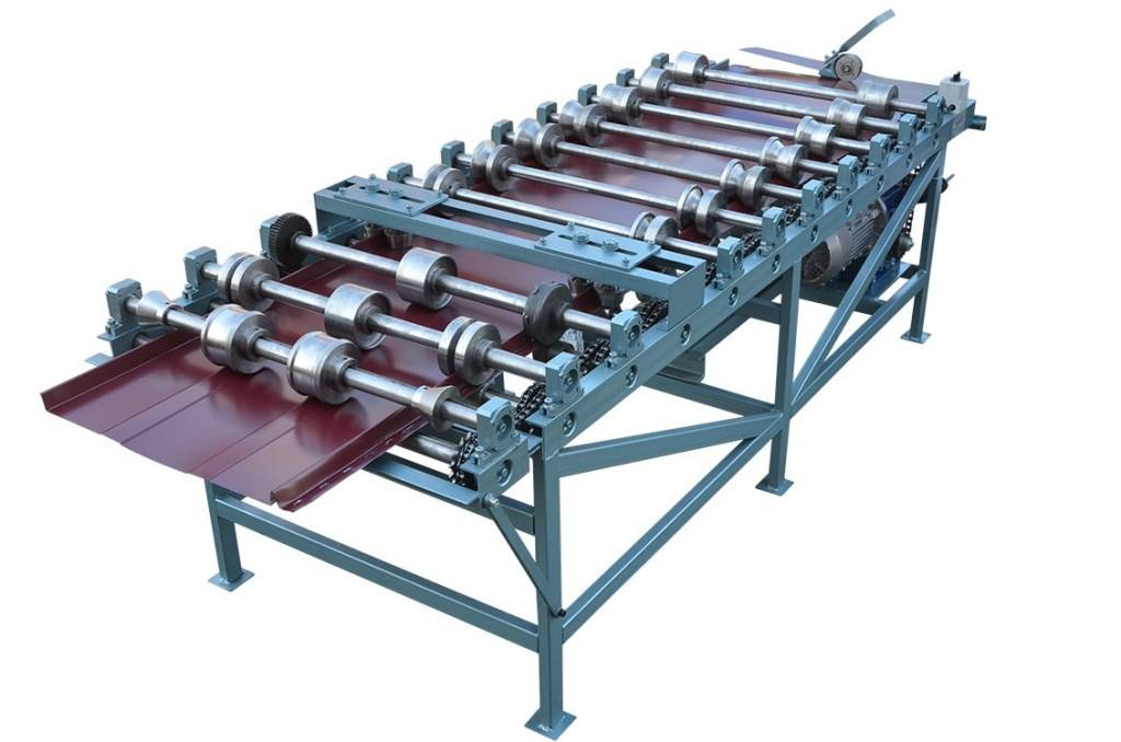 Snap Lock Standing Seam Panel Roll Forming Machine