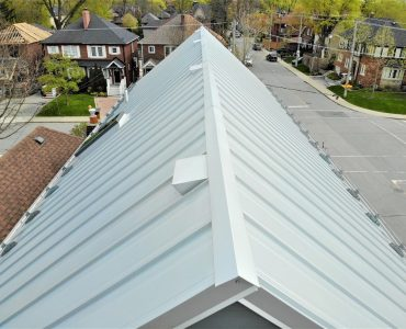 Standing seam roof project. Avenue Rd. and Lawrence Ave., Toronto.