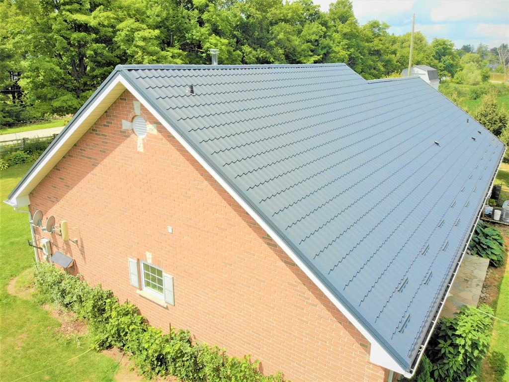 Green metal roofing for sale