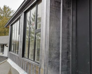 Metal siding project. Finch Ave. and Leslie St., North York.