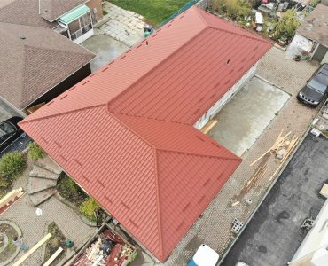 Metal tile roof project. Morning Star Dr. and Goreway Dr.
