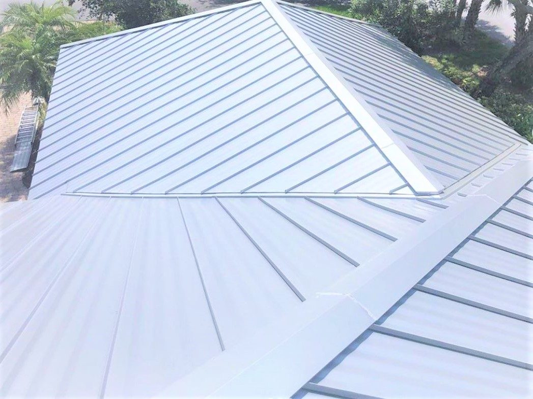 Aluminum standing seam metal roof