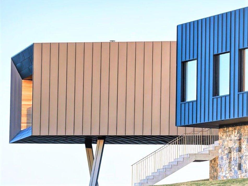 Copper metal facade