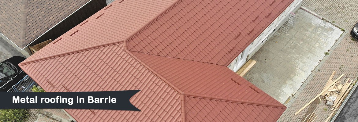 Metal roofing in Barrie