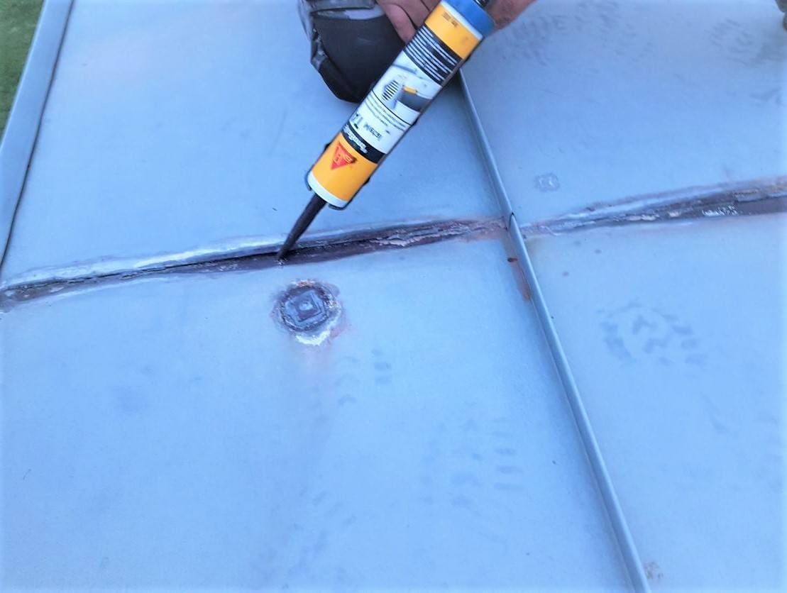 Metal roof leak repairs
