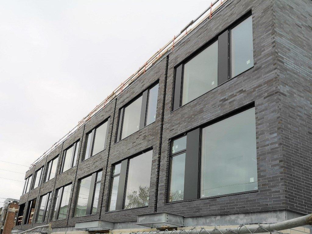 Aluminum composite panels on façade in Toronto
