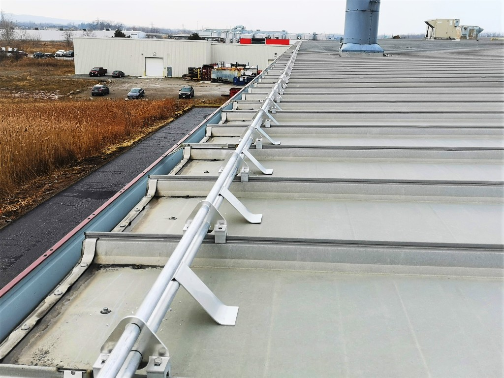 Snow Guards for Industrial Facility