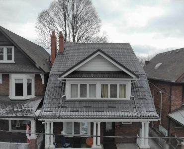 Metal tile roof project. Parkside Dr., and Bloor St., (High Park).