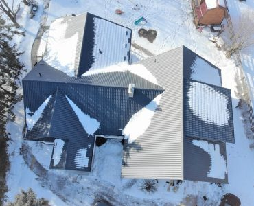 Metal tile roof project. HWY 7 and Fourth Line, Halton Hills.
