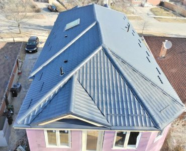 Metal tile roof project. Markham Rd. and Lawrence Ave.
