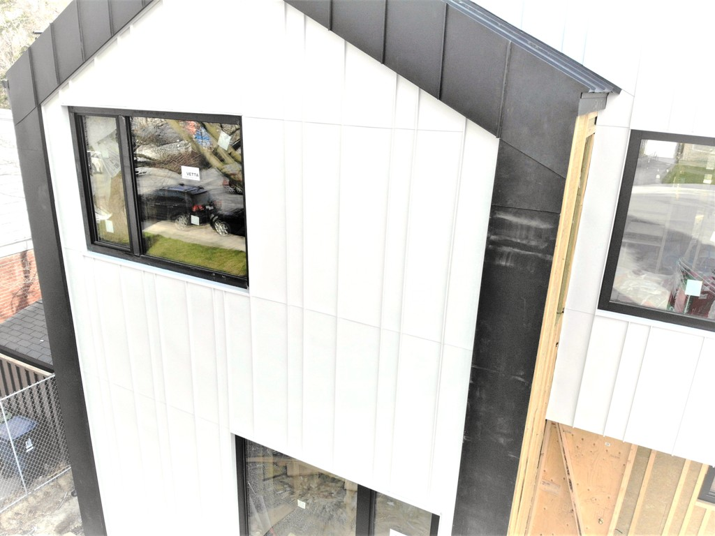 Beautiful white facade finished