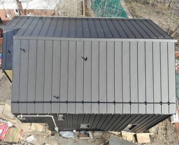 Standing seam roof project. Victoria Park Ave. and St. Clair Ave., Toronto.