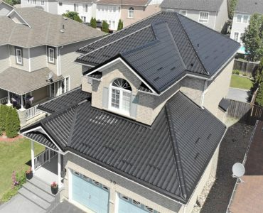 Metal tile roof project. Columbus Rd. E and Ashburn Rd., Whitby.