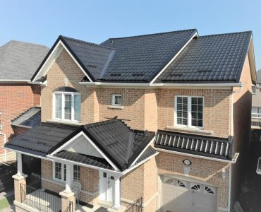 Metal tile roof project. Rossland Rd. E and Audley Rd., Ajax.