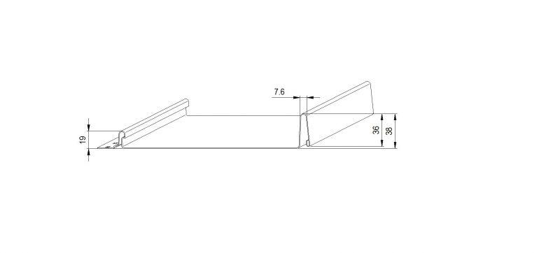 """1.5"""" / 38 mm Nail Strip Profile"""