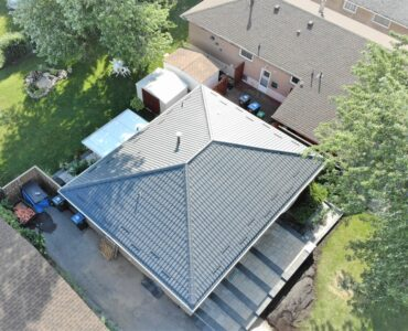 Metal tile roof project. Main Street South and Queen Street East, Brampton.