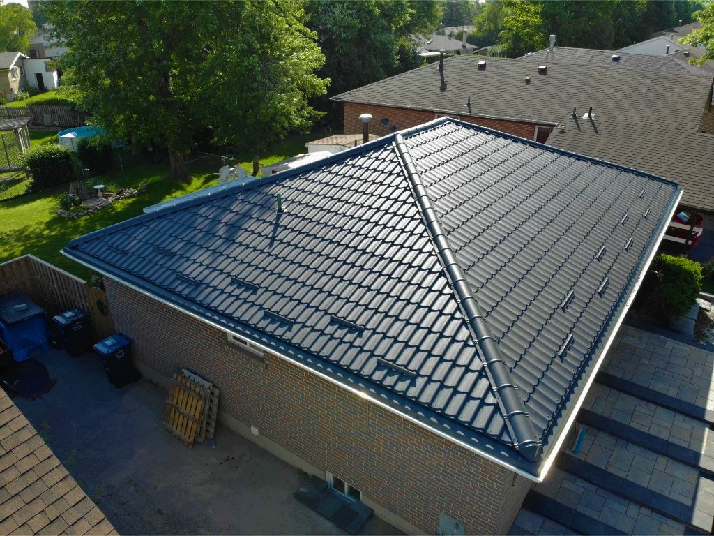 Metal tiles roof in Brampton.