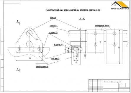 Aluminum Tubular Snow guards system_Installation manual