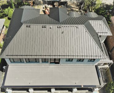 Standing seam roof project. Sheppard Ave, and 401. Toronto.